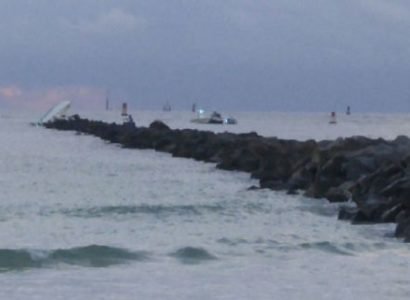 The U.S. Coast Guard found a boat on which Jose Fernandez was a passenger crashed into the rocks off Miami Beach early Sunday. WPLG