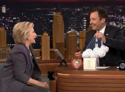 Hilliary Clinton gives Jimmy Fallon 'Soft Balls' for his behavior with Trump