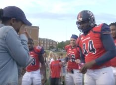 Samford's Linebacker Deion Pierre Proposes to His Girlfriend With Help From Teammates